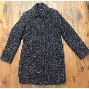 LONDON FOG Tweed Peacoat Wool Blend Jacket Lined